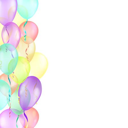 fondo con globos multicolores