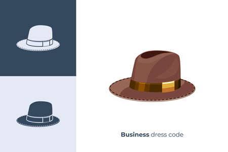 Vector icon of hat in flat style