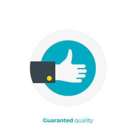 flat art thumb up, like hand. Team building. Scalable vector icon in modern flat style. cartoon elements vector illustration. Illustration