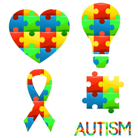 World Autism Awareness Day Puzzle Symbol Of Autism In Different