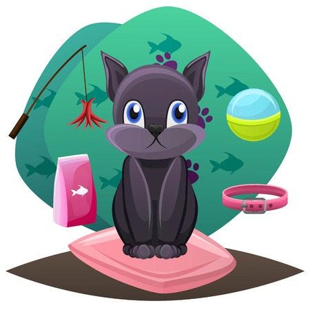 Pet shop concept. Animal grooming salon illustration.