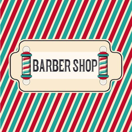 Barbershop hipster salon illustration. Background  . Vintage man hair brooming salon. Shave retro template  .