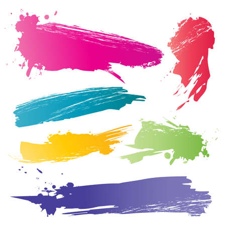Color brushstroke Vector