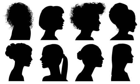Silhouette hair style Vector