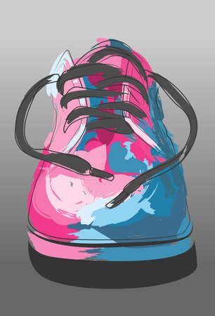 Shoe draw Vector