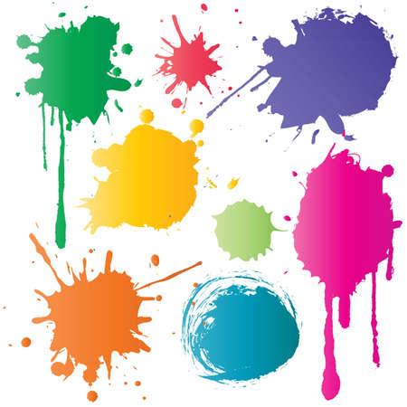 Kleur Inkt Stock Illustratie