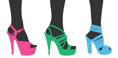 Woman shoes Illustration