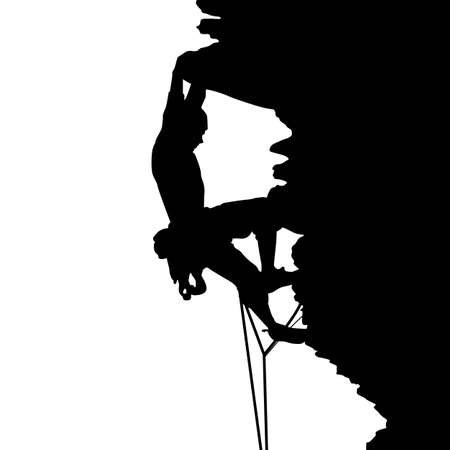 climbing: Climbing Illustration