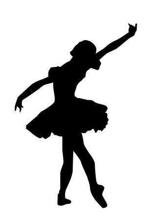 bailarines silueta: El ballet cl�sico Vectores
