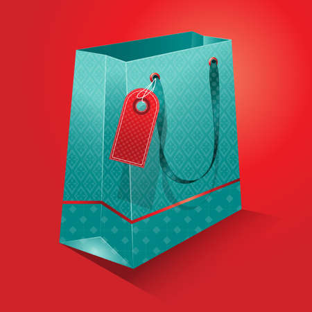 Gift bag - shopping bag Vector