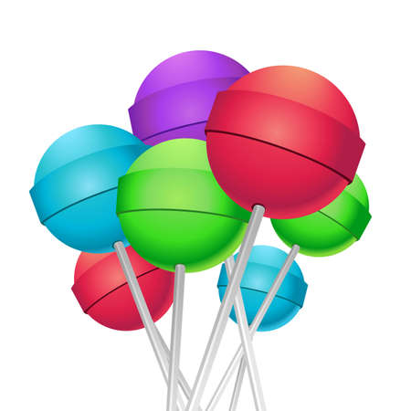 Lollipops bouquet Vector