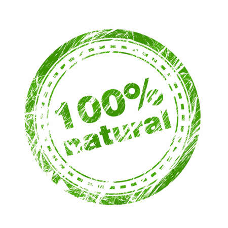 100% natural stamp Stock Vector - 15982552