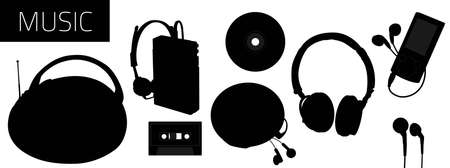 Accessories for listening to music Vector