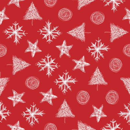 merry chrismas: Christmas pattern for wrapping and greeting card Illustration