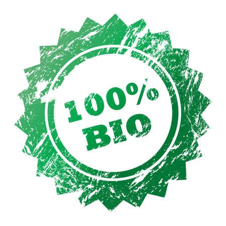 environmentalist tag: 100% Bio stamp