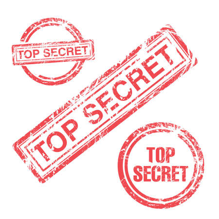 Top secret stamp collection Vector