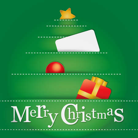 Graphics for Christmas greeting card Vector