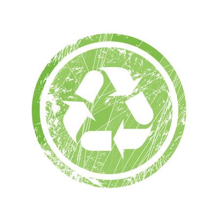 reciclaje de papel: Reciclaje de símbolo para el sello y etiquetas