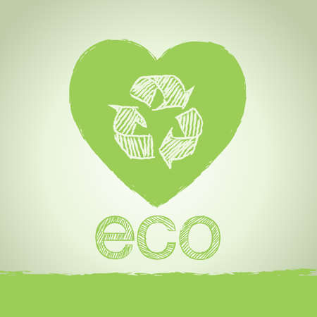 Ecology and recycling design background  Vector