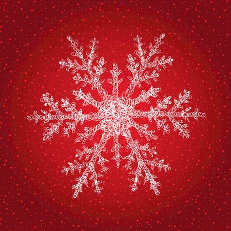 Snowflake isolated on Christmas background
