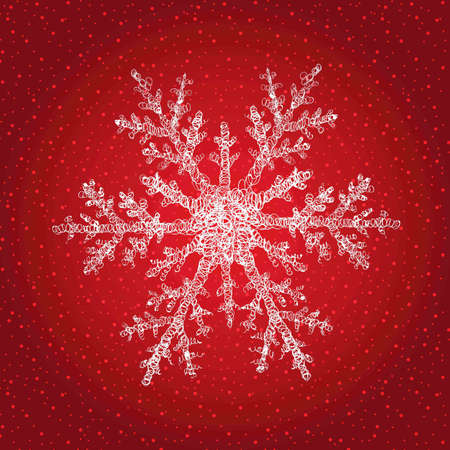 Snowflake isolated on Christmas background  Vector