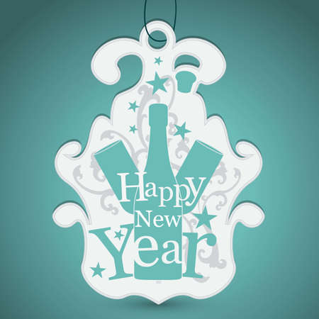 Label for New Year greetings Stock Vector - 16595682