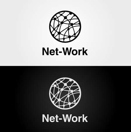 Logo design for themes of internet, network and computer
