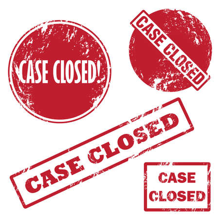passkey: Case closed rubber stamp Illustration