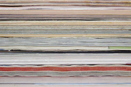thickness: Newspapers and magazines Stock Photo