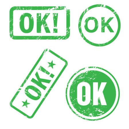 ok button: Ok stamp Illustration