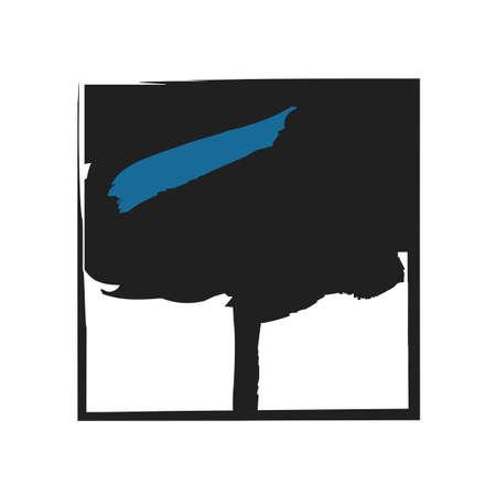 Tree illustration canvas Stock Vector - 18447109