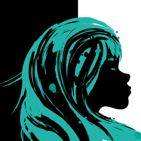 Girl illustration canvas Stock Vector - 18447112