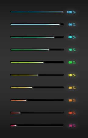Percent progress bar Stock Vector - 19762304