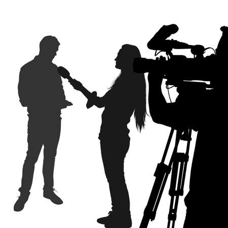 Silhouette interview Vector