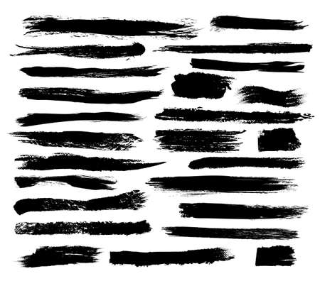 Set of grunge brush strokes 向量圖像