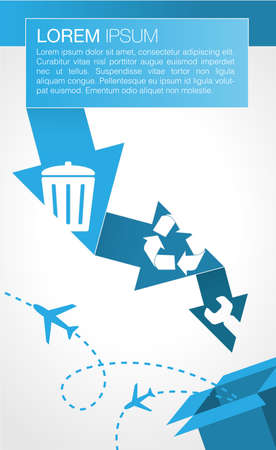 Infographic of Recycling Process Vector