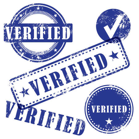 verified: Verified vector stamp set Illustration