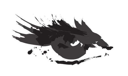 schöne augen: Gemalte Frau Auge