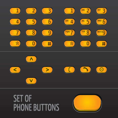 Set of Phone Buttons Illustration