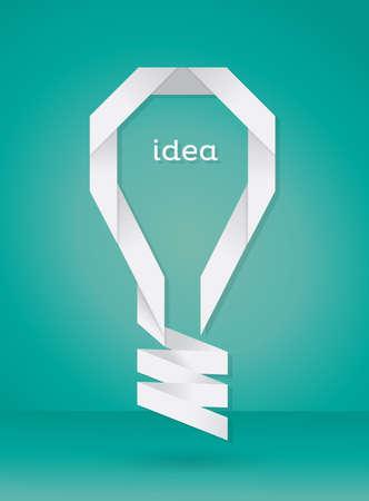 Paper Bulb Idea  Vector