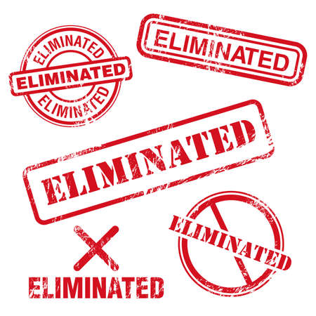 exclude: Eliminated Stamp