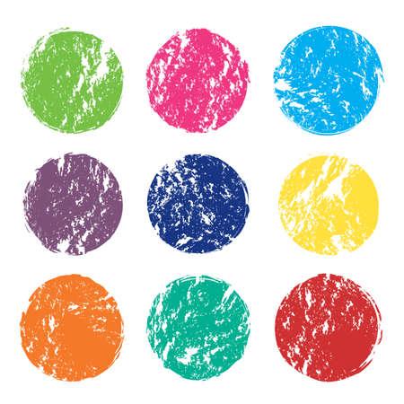 Set of vector grunge color spots Иллюстрация