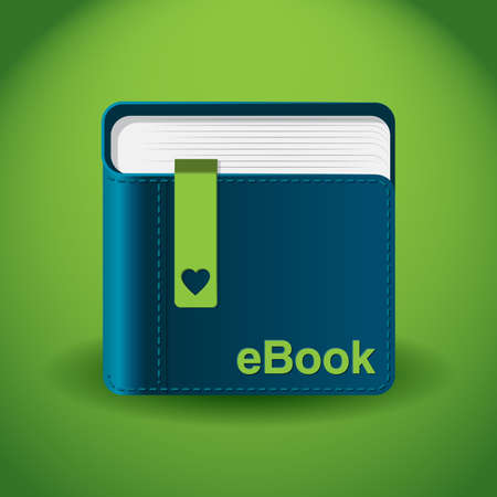 eBook App Icon Illustration Illustration