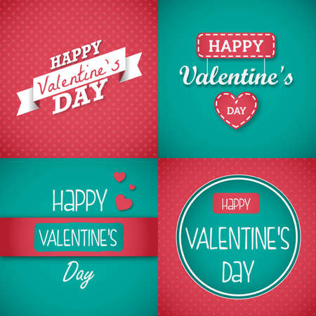 Happy Valentines Day Card set