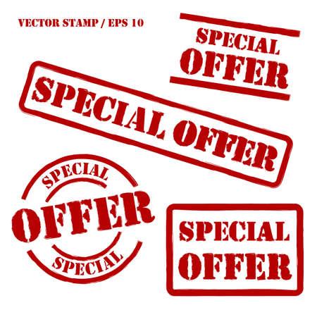 offerta speciale: Offerta speciale Vector Stamps Set Vettoriali