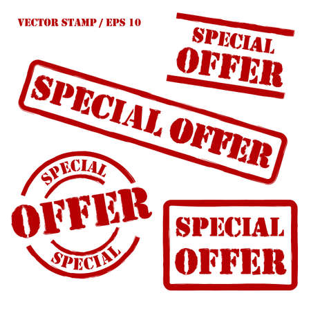 Special Offer Vector Stamps Set Illustration