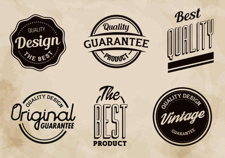 brand label: Vintage Quality Vector Labels Collection