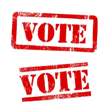 Vote Stamp Vector