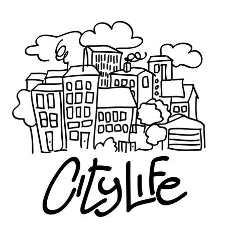 都市生活 - ベクトル図
