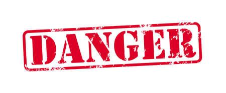 gas mask danger sign: Danger Vector Stamp